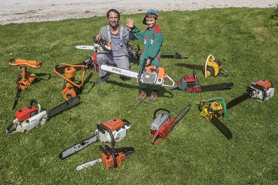 Zbirka starih motornih žag